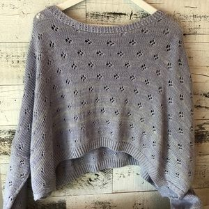 Lilac cropped crochet sweater